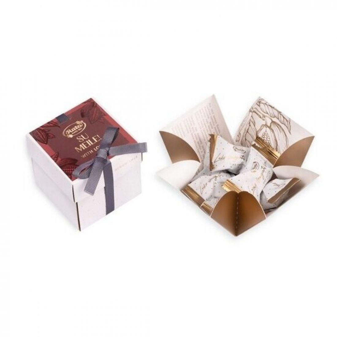 """Šokoladinių saldainių rinkinys """"Rūta 1913"""", SU MEILE!, 88 g"""